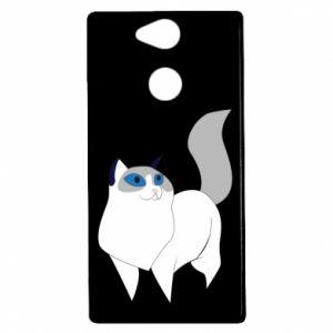 Etui na Sony Xperia XA2 White cat with blue eyes