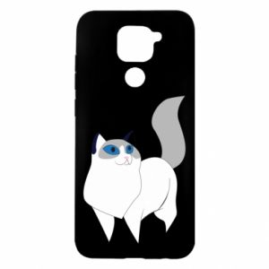Etui na Xiaomi Redmi Note 9/Redmi 10X White cat with blue eyes