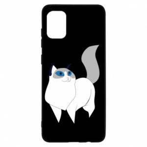 Etui na Samsung A31 White cat with blue eyes