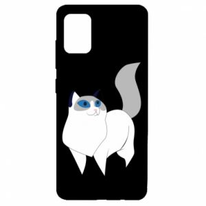 Etui na Samsung A51 White cat with blue eyes