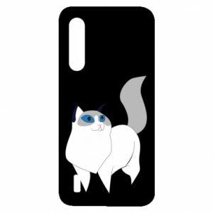 Etui na Xiaomi Mi9 Lite White cat with blue eyes