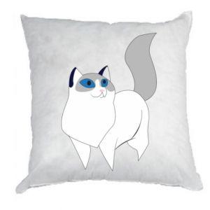 Poduszka White cat with blue eyes