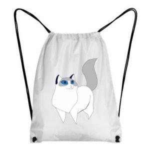 Plecak-worek White cat with blue eyes