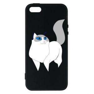 Etui na iPhone 5/5S/SE White cat with blue eyes