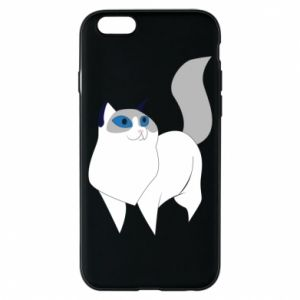 Etui na iPhone 6/6S White cat with blue eyes