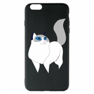 Etui na iPhone 6 Plus/6S Plus White cat with blue eyes