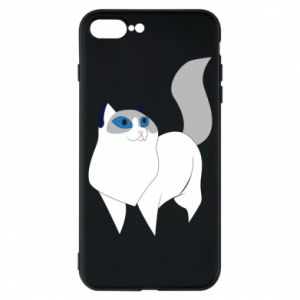 Etui do iPhone 7 Plus White cat with blue eyes
