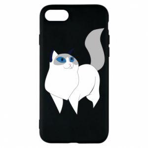 Etui na iPhone 8 White cat with blue eyes