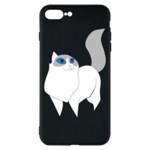 Etui na iPhone 8 Plus White cat with blue eyes