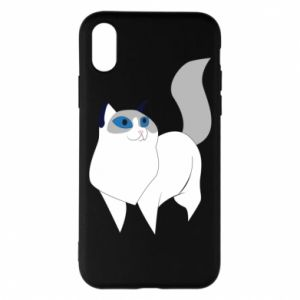Etui na iPhone X/Xs White cat with blue eyes