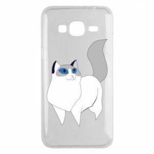 Etui na Samsung J3 2016 White cat with blue eyes