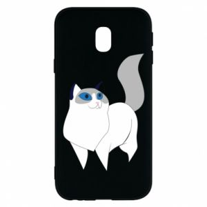 Etui na Samsung J3 2017 White cat with blue eyes