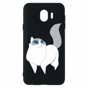 Etui na Samsung J4 White cat with blue eyes