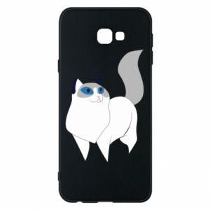Etui na Samsung J4 Plus 2018 White cat with blue eyes