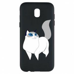 Etui na Samsung J5 2017 White cat with blue eyes