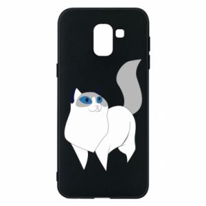 Etui na Samsung J6 White cat with blue eyes