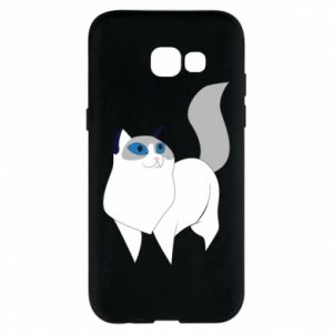 Etui na Samsung A5 2017 White cat with blue eyes