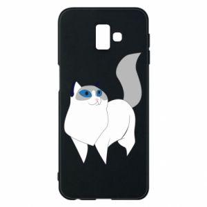 Etui na Samsung J6 Plus 2018 White cat with blue eyes