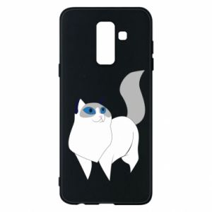 Etui na Samsung A6+ 2018 White cat with blue eyes