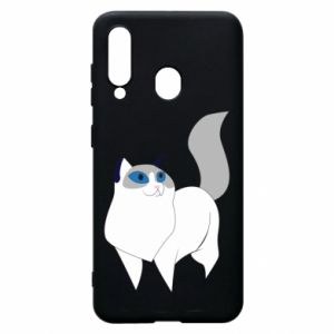 Etui na Samsung A60 White cat with blue eyes