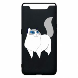 Etui na Samsung A80 White cat with blue eyes