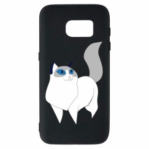 Etui na Samsung S7 White cat with blue eyes