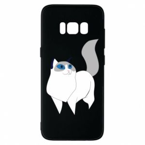 Etui na Samsung S8 White cat with blue eyes