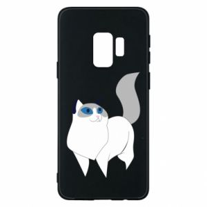 Etui na Samsung S9 White cat with blue eyes