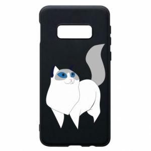 Etui na Samsung S10e White cat with blue eyes