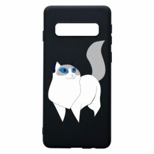 Etui na Samsung S10 White cat with blue eyes
