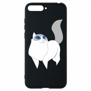 Etui na Huawei Y6 2018 White cat with blue eyes