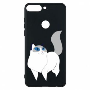 Etui na Huawei Y7 Prime 2018 White cat with blue eyes