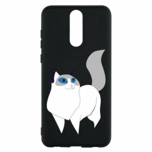 Etui na Huawei Mate 10 Lite White cat with blue eyes