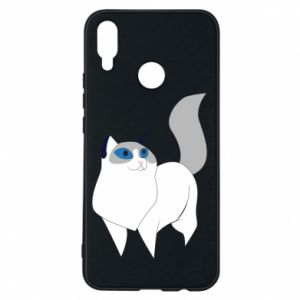 Etui na Huawei P Smart Plus White cat with blue eyes