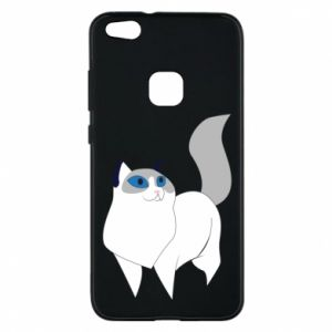 Etui na Huawei P10 Lite White cat with blue eyes