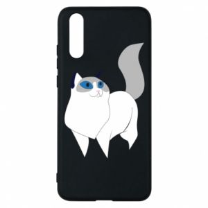 Etui na Huawei P20 White cat with blue eyes