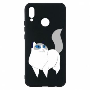 Etui na Huawei P20 Lite White cat with blue eyes