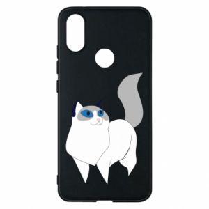 Etui na Xiaomi Mi A2 White cat with blue eyes