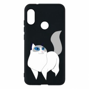 Etui na Mi A2 Lite White cat with blue eyes