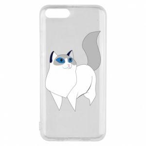 Etui na Xiaomi Mi6 White cat with blue eyes