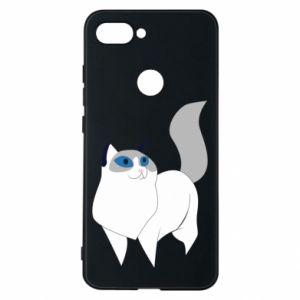 Etui na Xiaomi Mi8 Lite White cat with blue eyes