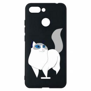 Etui na Xiaomi Redmi 6 White cat with blue eyes