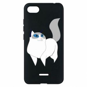 Etui na Xiaomi Redmi 6A White cat with blue eyes