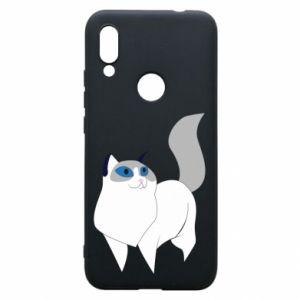 Etui na Xiaomi Redmi 7 White cat with blue eyes