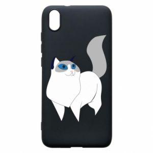Etui na Xiaomi Redmi 7A White cat with blue eyes