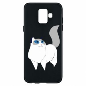 Etui na Samsung A6 2018 White cat with blue eyes