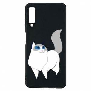 Etui na Samsung A7 2018 White cat with blue eyes