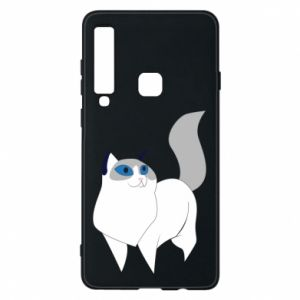 Etui na Samsung A9 2018 White cat with blue eyes
