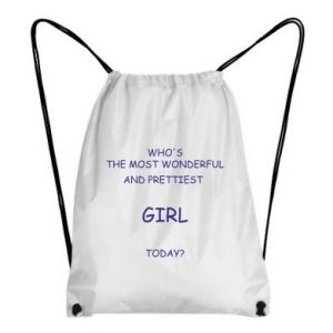 Backpack-bag Who's the most wonderful