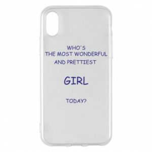 Phone case for iPhone X/Xs Who's the most wonderful